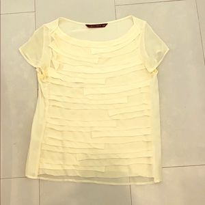 Cream colored blouse by Zara